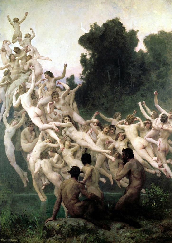 The Oreads, William Bouguereau